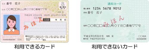 画像:マイナンバーカード
